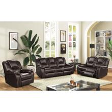 8088 DARK BROWN 3PC Power Recliner Air Leather Living Room SET