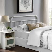 Serena King Steel Headboard in White
