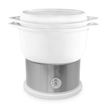 Kalorik 4.8 Quart Ceramic Steamer with Steaming Rack, White