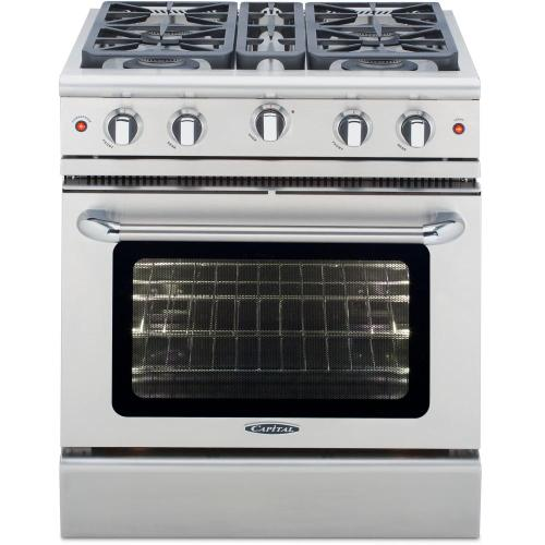 """View Product - 30"""" Gas Convection Range with 4 Sealed Burners 19K BTU"""