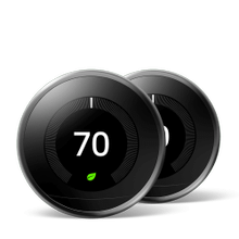 Nest Learning Thermostat 3rd Gen Mirror Black 2 Pack