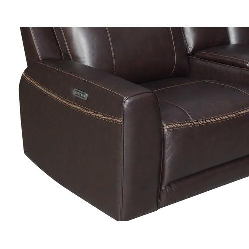 Doncella Dual-Power Leather 6-Piece Sectional (LAFR,RAFR,CN,AC,AR,W)