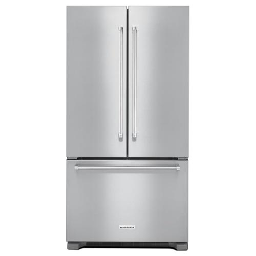 Kitchenaid 22CF Stainless Steel Counter Depth French Door Refrigerator with Interior Dispense