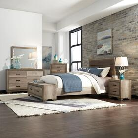 Queen Storage Bed, Dresser & Mirror, Chest, Night Stand
