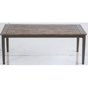 """Brisbane 47"""" Rectangular Aluminum Coffee Table"""