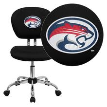 Houston Cougars Embroidered Black Mesh Task Chair with Chrome Base