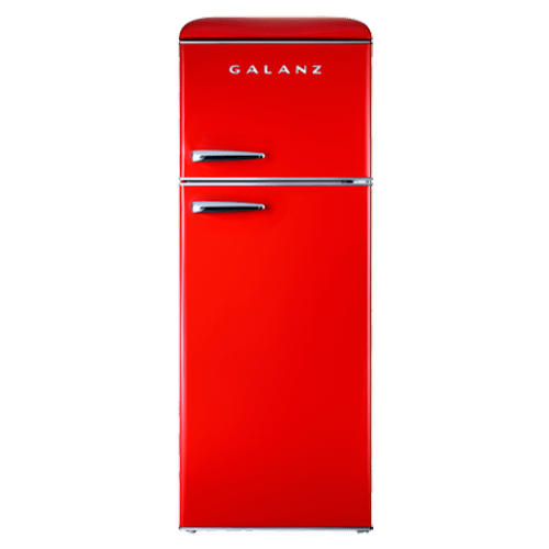 Galanz 7.6 Cu Ft Retro Top Mount Refrigerator in Hot Rod Red
