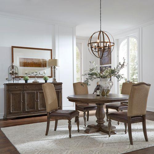 Liberty Furniture Industries - Opt 5 Piece Pedestal Table Set
