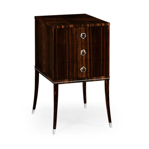 Soho chest on stand with white brass detail