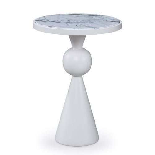 Minaret Accent Table - White