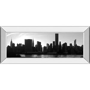 """""""Panorama Of NYC VI"""" By Jeff Pica Mirror Framed Print Wall Art"""