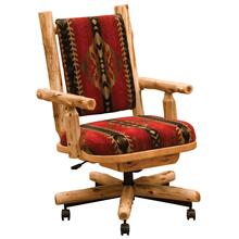 Upholstered Executive Chair - Natural Cedar - Upgrade Fabric
