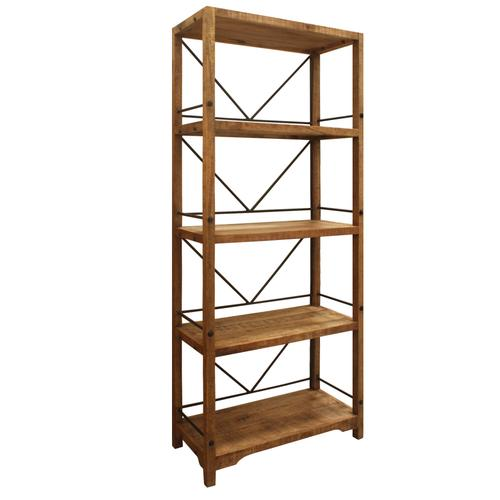 Winslow Wood and Metal Bookshelf
