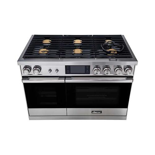 "48"" Range, Graphite Stainless Steel, Natural Gas/High Altitude"