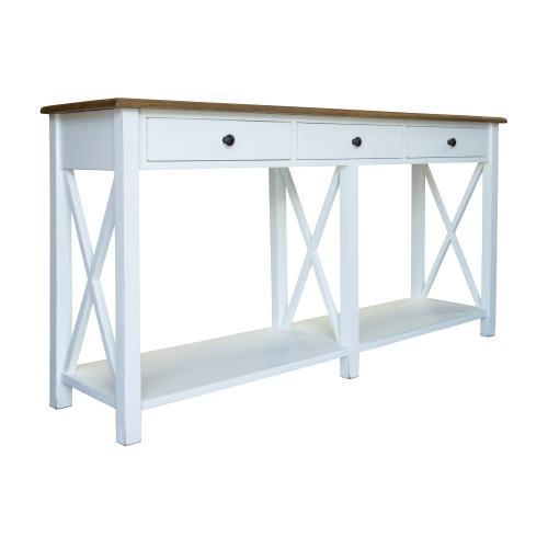 Sofa Table, Available in Hampton Brown or Hampton Grey Finish.