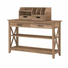 See Details - Console Table with Storage and Desktop Organizers, Reclaimed Pine