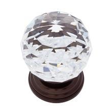 Old World Bronze 50 mm Round Crystal Knob
