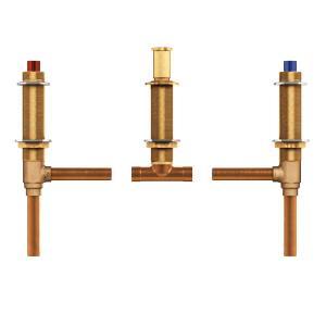 "two handle roman tub valve adjustable 1/2"" cc connection Product Image"