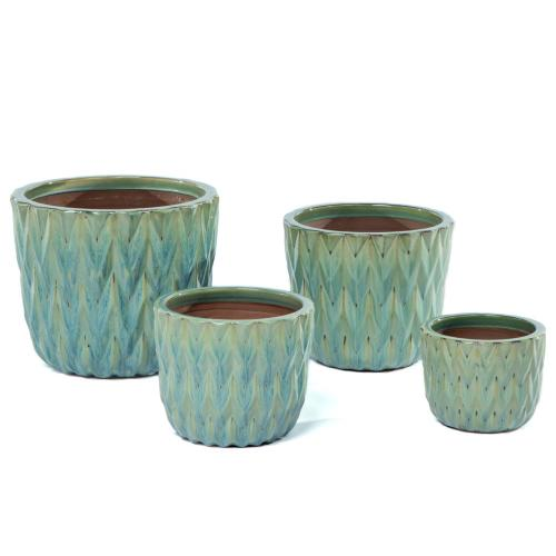 Flame Stitch Planter - Set of 4