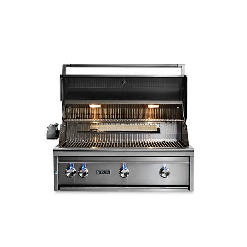"Lynx L36R3NG    36"" Professional Built In Grill with 3 Ceramic Burners and Rotisserie, NG"