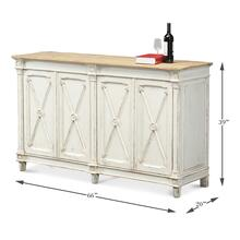 Marksman Sideboard, Antique Whitewash