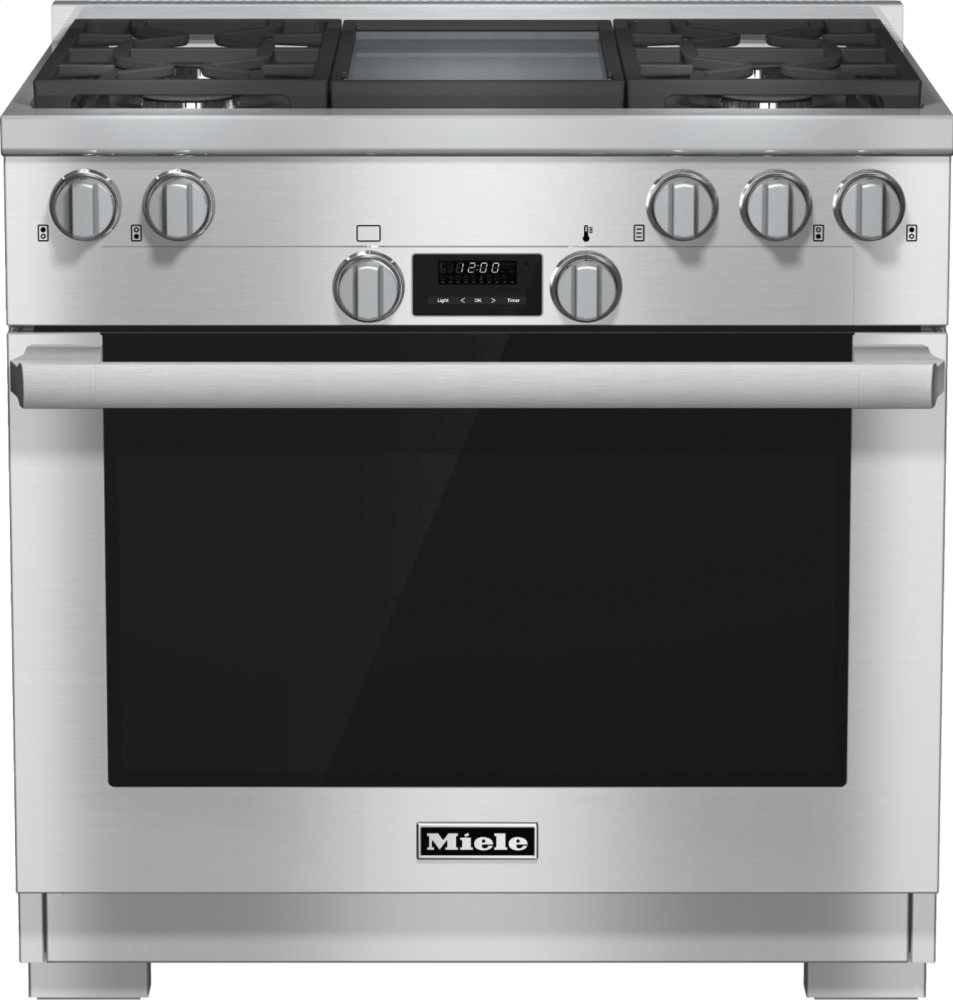 MieleHr 1136-1 G - 36 Inch Range All Gas With Directselect, Twin Convection Fans And M Pro Dual Stacked Burners
