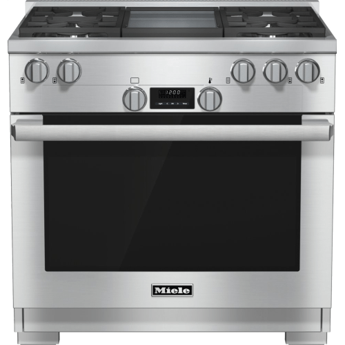 HR 1136-1 G - 36 inch range All Gas with DirectSelect, Twin convection fans and M Pro dual stacked burners
