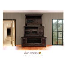 View Product - 52in TV Stand w/2 drawers, 1 door - Black Finish