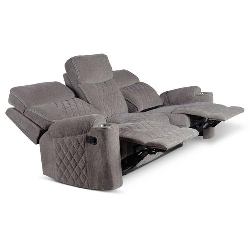 Crawford Manual Reclining Console Loveseat