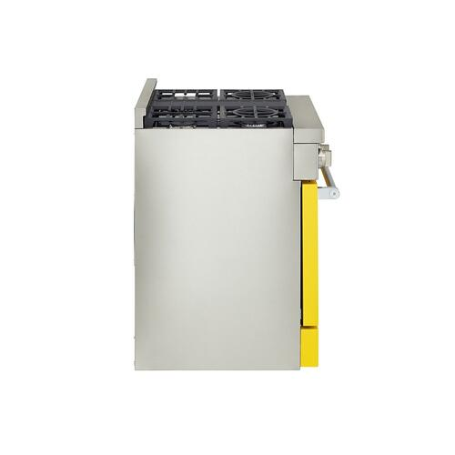 KitchenAid Canada - KitchenAid® 30'' Smart Commercial-Style Gas Range with 4 Burners - Yellow Pepper