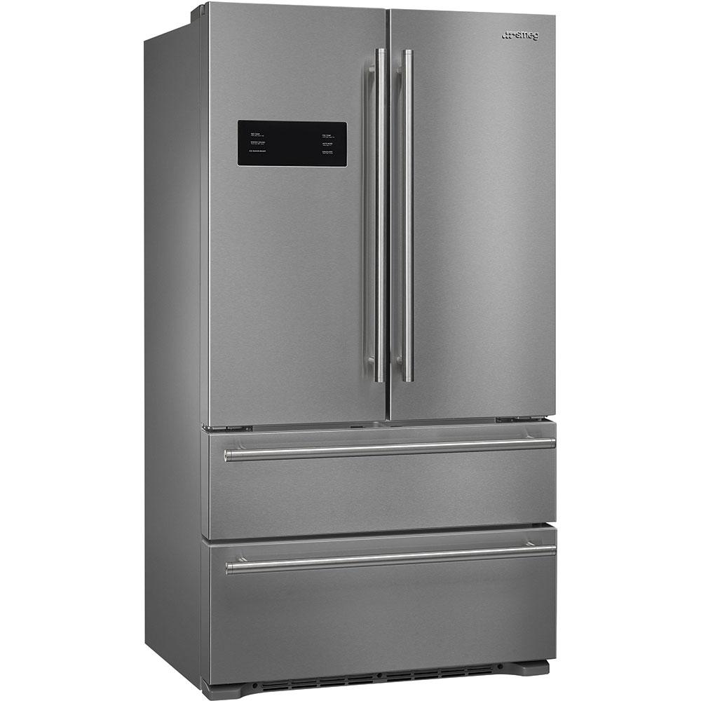 "Smeg90 Cm (Approx 36""), French Door Refrigerator/freezer, 2 Doors And 2 Drawers, Stainless Steel"