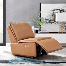 Supine Leather Recliner Chair in Tan