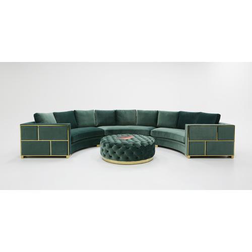 Divani Casa Ritner Modern Green Velvet Circular Sectional Sofa