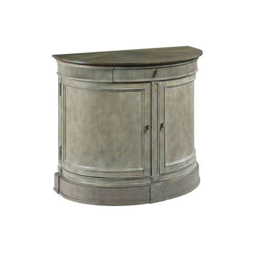 Demilune Bachelor Chest Versaille Finish W/elm Top