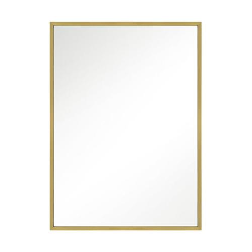 Kit Rectangular Mirror Burnished Brass