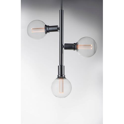 Molecule 3-Light Pendant with G40 CL LED Bulbs