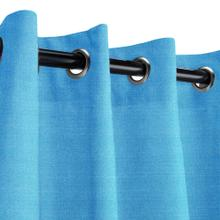See Details - Sunbrella Canvas Capri Outdoor Curtain with Nickel Plated Grommets