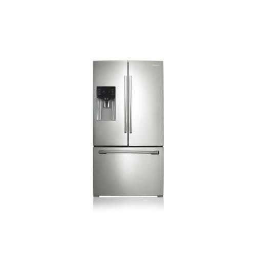 REFURBISHED SAMSUNG 24.6 cu. ft., 3-Door French Door Refrigerator. (This is a Stock Photo, actual unit (s) appearance may contain cosmetic blemishes.  Please call store if you would like actual pictures).  This unit carries our 6 month warranty, MANUFACTURER WARRANTY and REBATE NOT VALID with this item. ISI 41289