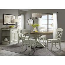 Southport - X-back Side Chair - Smokey White Finish