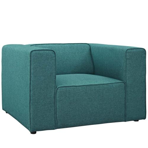 Mingle Upholstered Fabric Armchair in Teal