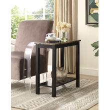 View Product - Lediyana Faux Marble Top Side Table in Espresso Finish