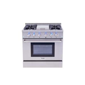FLOOR MODEL    36 Inch Professional Gas Range With Griddle In Stainless Steel