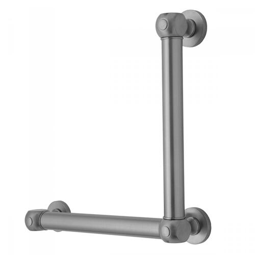 Pewter - G70 12H x 24W 90° Left Hand Grab Bar
