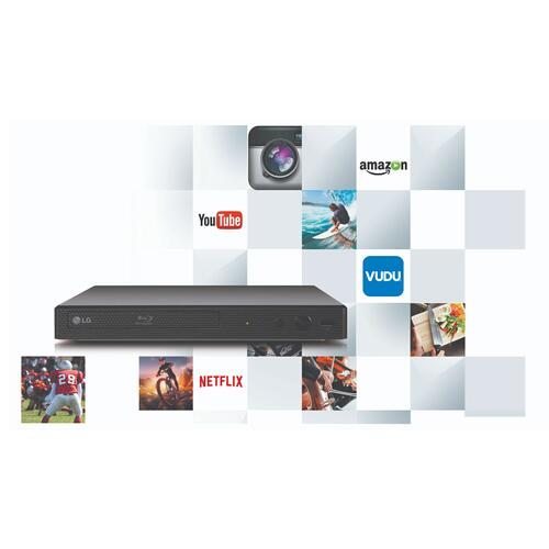 Blu-Ray Disc™ Player with Streaming Services and Built-in Wi-Fi®