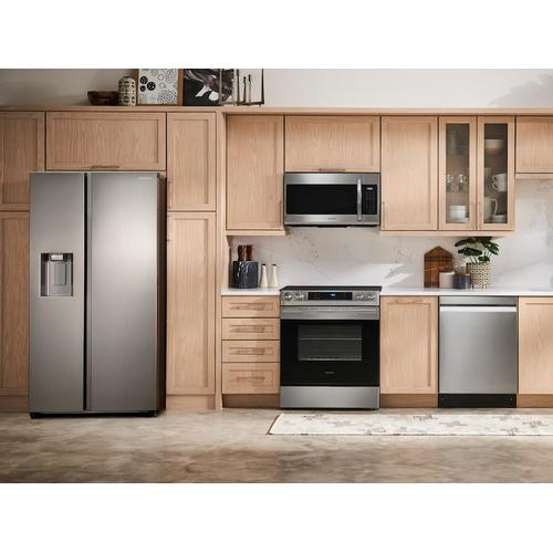 (Open Box ) 27.4 cu. ft. Large Capacity Side-by-Side Refrigerator in Stainless Steel