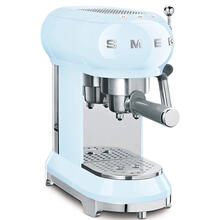 Smeg 50s Retro Style Design Aesthetic Espresso Coffee Machine, Pastel Blue