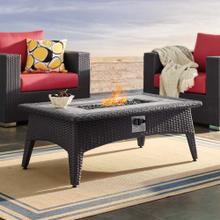 """See Details - Splendor 43.5"""" Rectangle Outdoor Patio Fire Pit Table in Espresso"""
