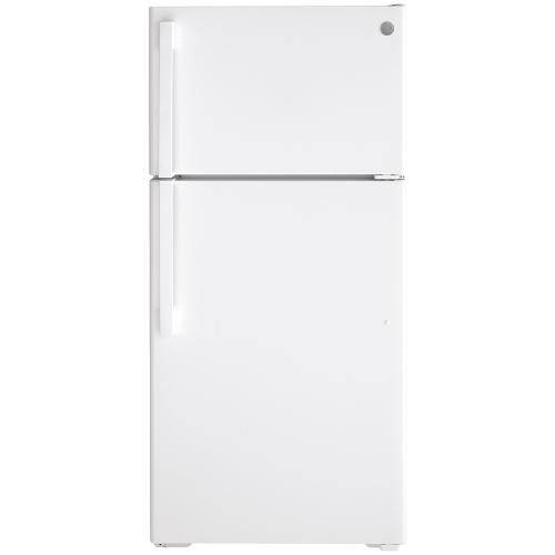 GE® Energy Star 18 Cu. Ft. Top-Freezer Refrigerator White - GTE18FTLKWW