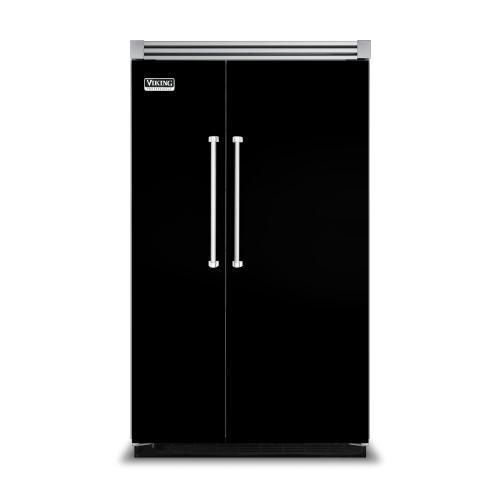 "Viking - Black 48"" Side-by-Side Refrigerator/Freezer - VISB (Integrated Installation)"