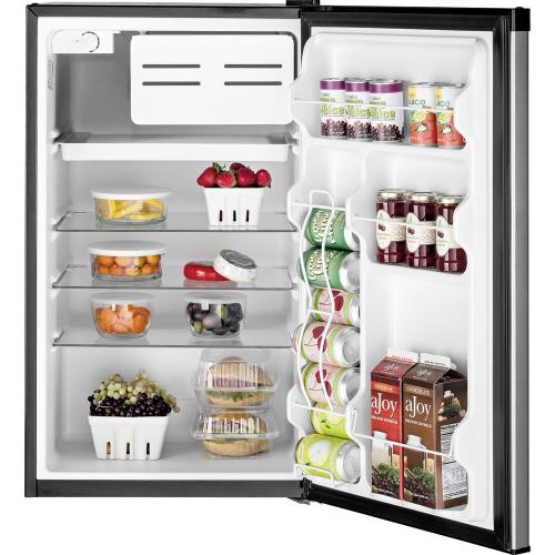 GE 4.4 Cu. Ft. Compact Refrigerator Clean Steel GME04GLKLB